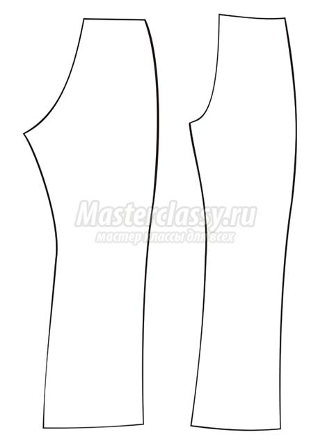 Шьем штаны для куклы